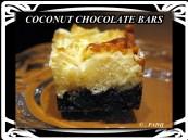 COCONUT CHOCOLATE BROWNIE BARS