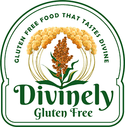 divinely gluten free logo logo for gluten free food that tastes divine
