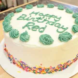 8 inch double layer gluten free birthday cake