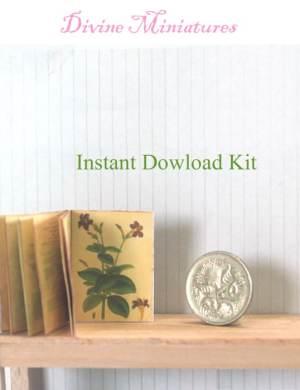 Set of 5 Miniature Children/'s Classics #2-A DOLLHOUSE Books 1:12 Scale