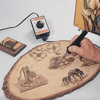 Wood-Burning Art