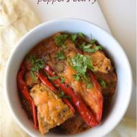 Stuffed mini pepper curry