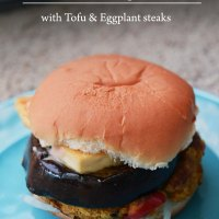 Meatless Monday -Chickpea Quinoa Patty Burgers with Tofu & Eggplant Steaks