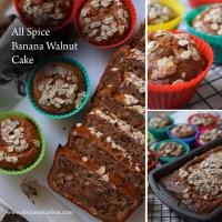 All Spice Banana Walnut Cake