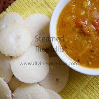 Steamed Rice Idlis