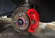 red caliper spray painting sg . divinesplash.com forte caliper