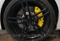 yellow caliper bmw sg. car spray painting sg