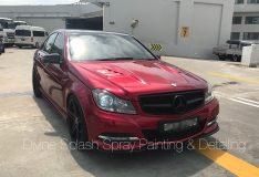 candy red w204 car spray singapore. divinesplash.com car spray sg. spray painting sg