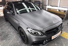merc c200 matt grey. matt black divinesplash.com divine splash spray painting car spray paint. divinesplash singapore. sg car spray painting. merc