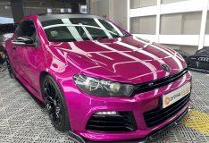 divinesplash.com scirocco pink purple car paint. divine splash review scirocco pink singapore. purple pink scirocco car spray painting best car spray painting sg. purple pink car paint