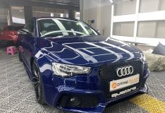 sepang blue car spray painting divinesplash.com divine splash spray painting singapore. car spray sg. best car spray singapore. audi blue car spray