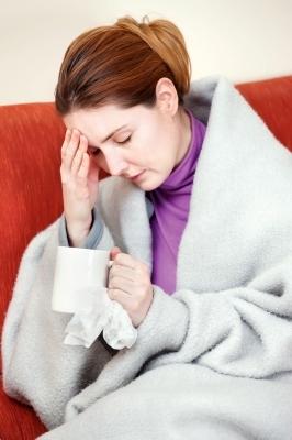 sick woman headache