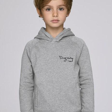Sweat gris et mixte pour enfants avec le logo Diving Reflex