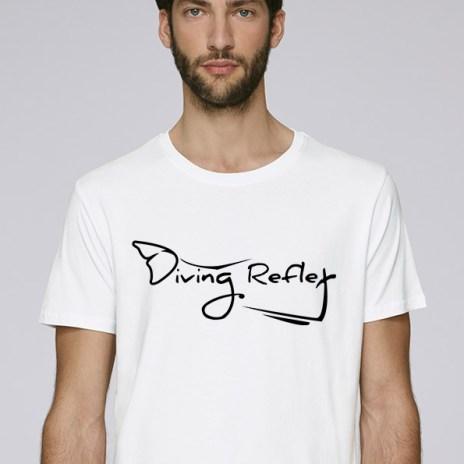 Tee-shirt blanc pour hommes avec le logo Diving Reflex