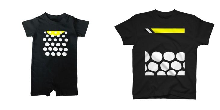 モンガラカワハギのダイビングTシャツ&ロンパース
