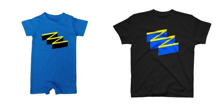 ハナヒゲウツボのダイビングTシャツ&ロンパース
