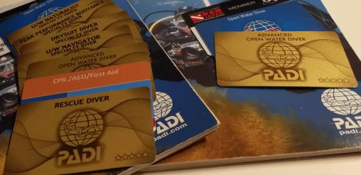 PADI Cカード