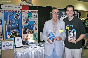 With Who's Who Stan Waterman at the Florida Dive Show, 2007. Photo © Diving Almanac