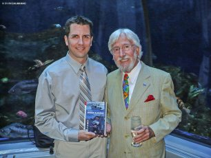 With Who's Who Jean-Michel Cousteau at the Québec Aquarium, 2009. Photo © Diving Almanac