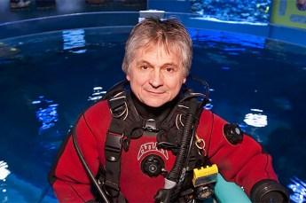 Paul Boissinot at the Quebec Aquarium. Photo © Jacques Boissinot