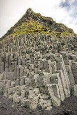 Trap rock basalt columns near Dyrhólaey. Photo © Jeffrey Gallant | Diving Almanac