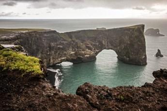 Dyrhólaey, Iceland's southernmost point. Photo © Jeffrey Gallant | Diving Almanac
