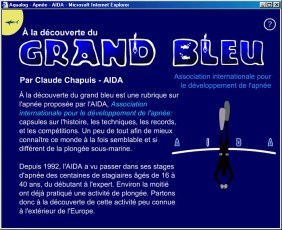 Page from a freediving article by Claude Chapuis (AIDA) in the French edition of Aqualog Magazine. Image © Diving Almanac