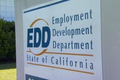 the EDD California name board
