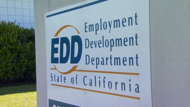 the EDD California name board