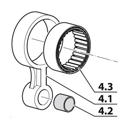 Set bielă treapta a IV-a, compresor Coltri MCH 6