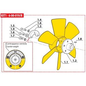 Ventilator răcire, pentru compresor Coltri MCH 6