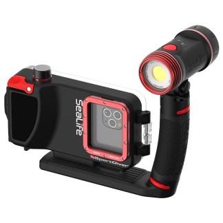 Set carcasă subacvatică cu lumină externă pentru iPhone, SeaLife SportDiver Pro 2500 / SL401