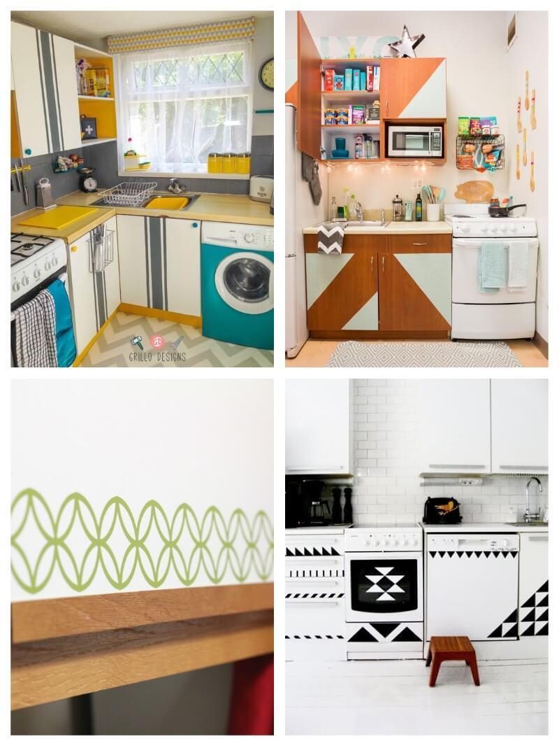 Forrar los armarios de la cocina con vinilo (tendencias mayo 2018)