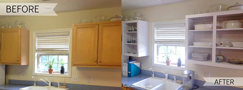 forrar con vinilo blanco los armarios de la cocina