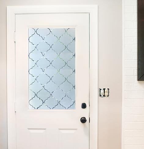 forrar con vinilo efecto ácido una puerta de vidrio