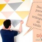 7 ideas con triángulos para decorar la pared con vinilo adhesivo