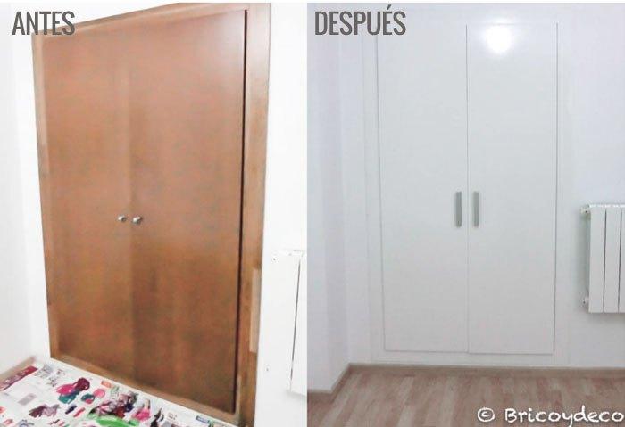 Forrar el armario con vinilo ventajas e inconvenientes - Pintar cristales de puertas ...