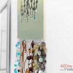 Colgador para collares y pendientes DIY con vinilo decorativo