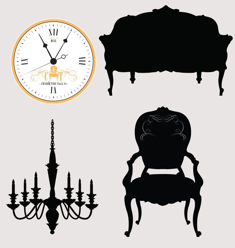 siluetas mobiliario vintage