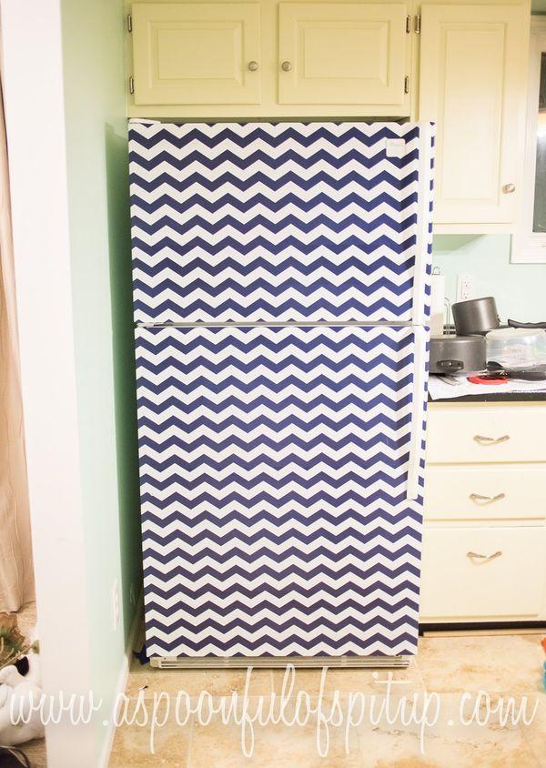 ideas para decorar el frigorífico con vinilo adhesivo