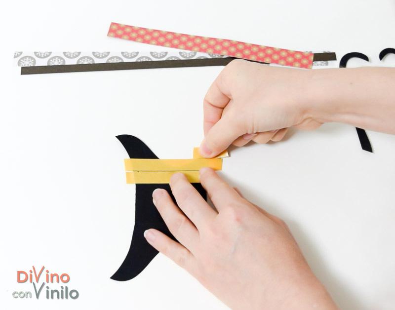 cómo hacer una pizarra con trineo decorada con vinilo pizarra