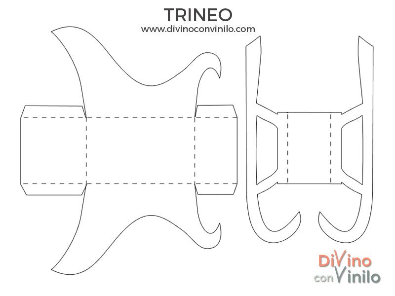 plantilla para trineo
