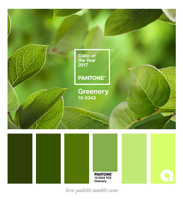 Greenery, color Pantone del 2017