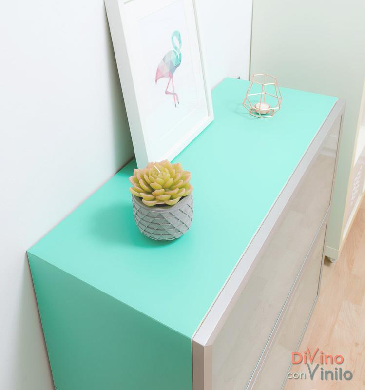 mueble forrado con vinilo adhesivo