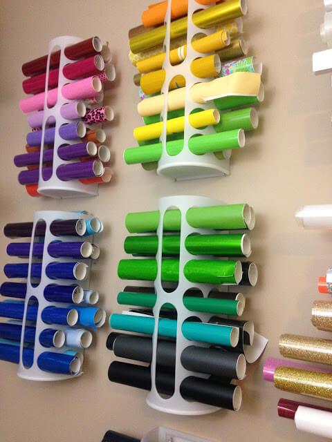 ideas para organizar los vinilos adhesivos