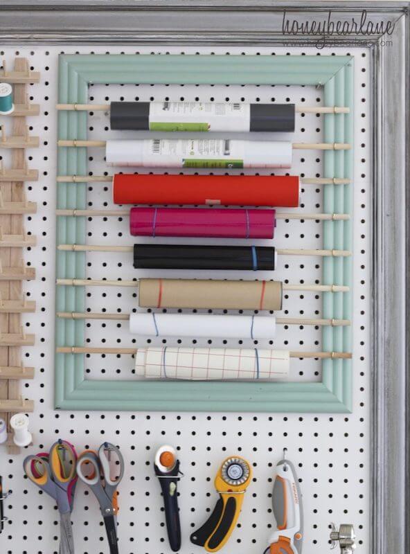 organizador de pared para tener ordenados los vinilos