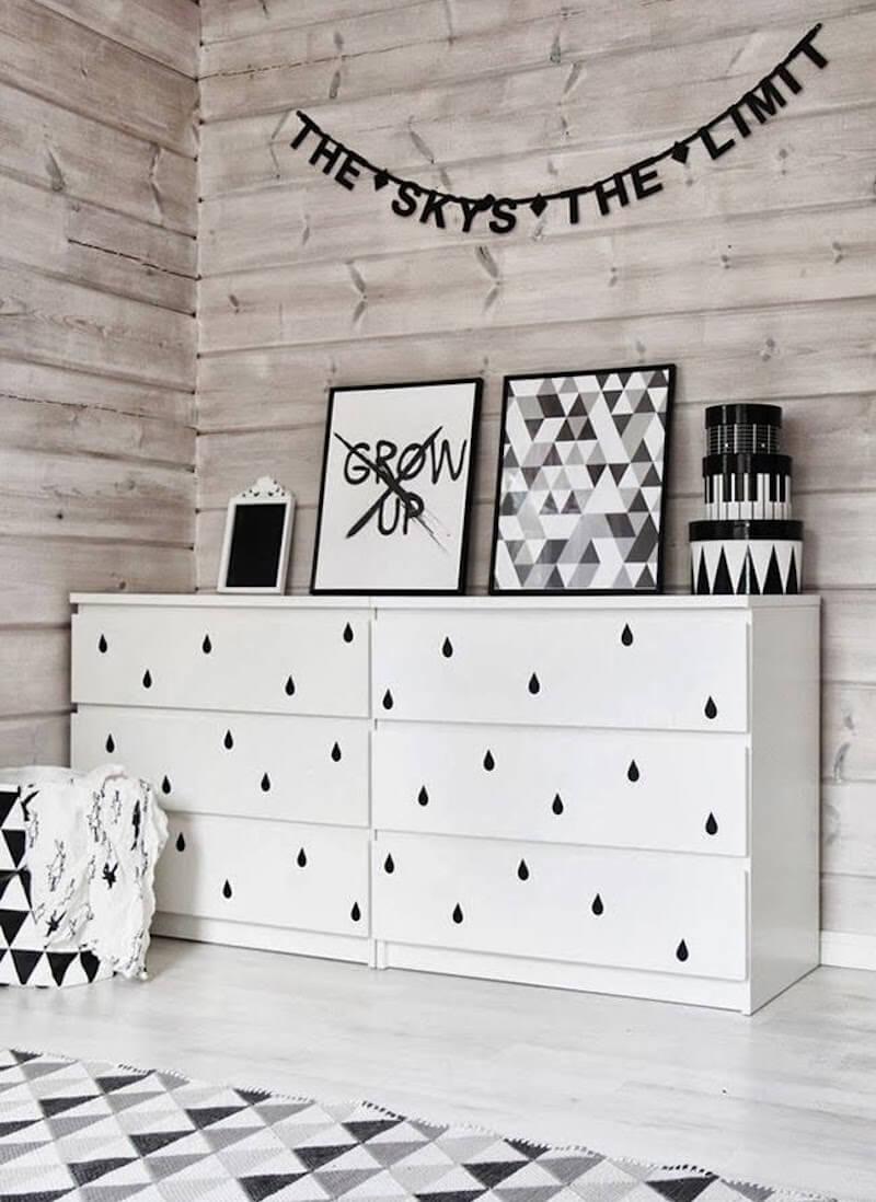 decorar muebles de Ikea con vinilo