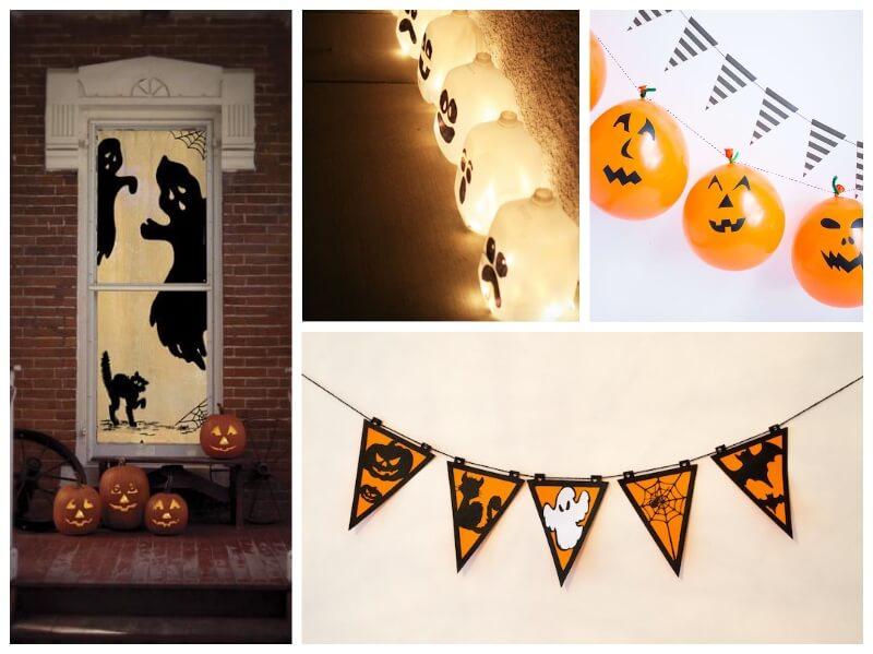 Ideas de decoraci n en halloween con vinilo adhesivo - Decoracion halloween casera ...