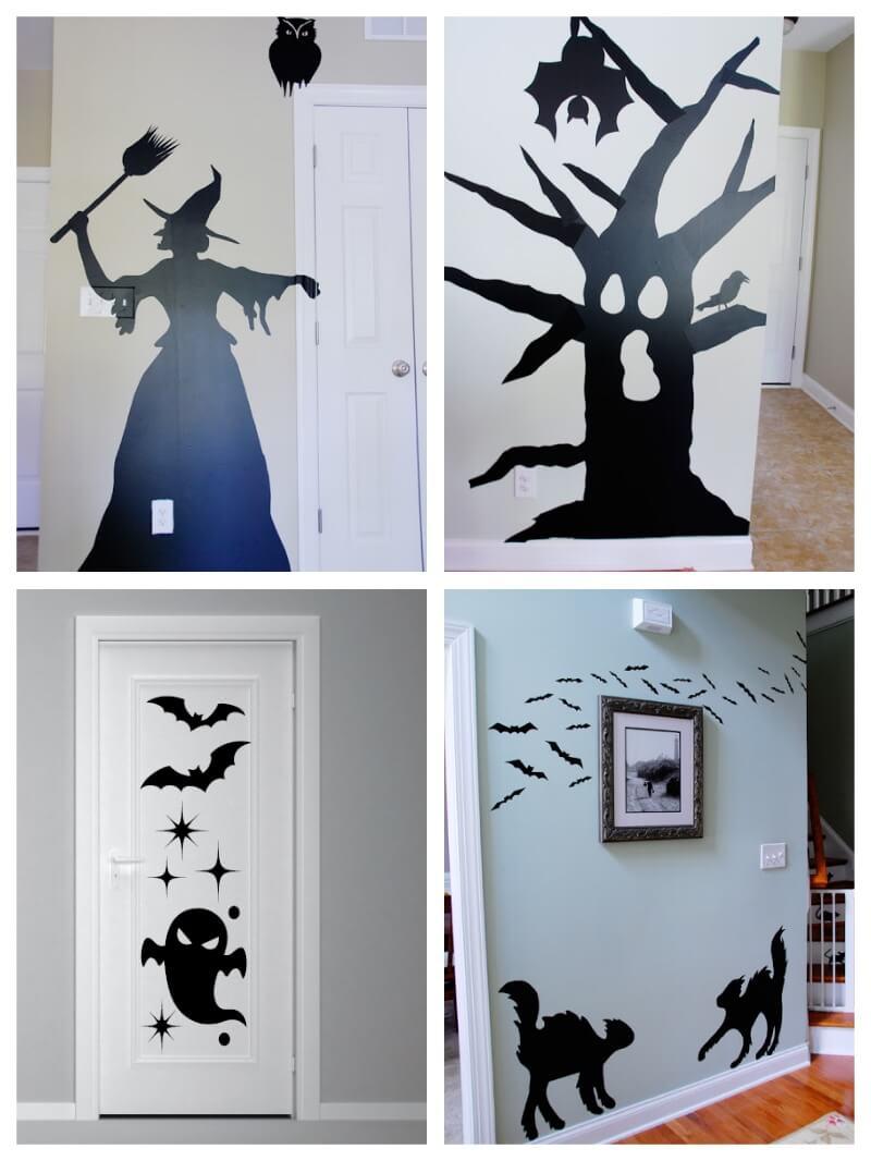 decoración con vinilo adhesivo para Halloween