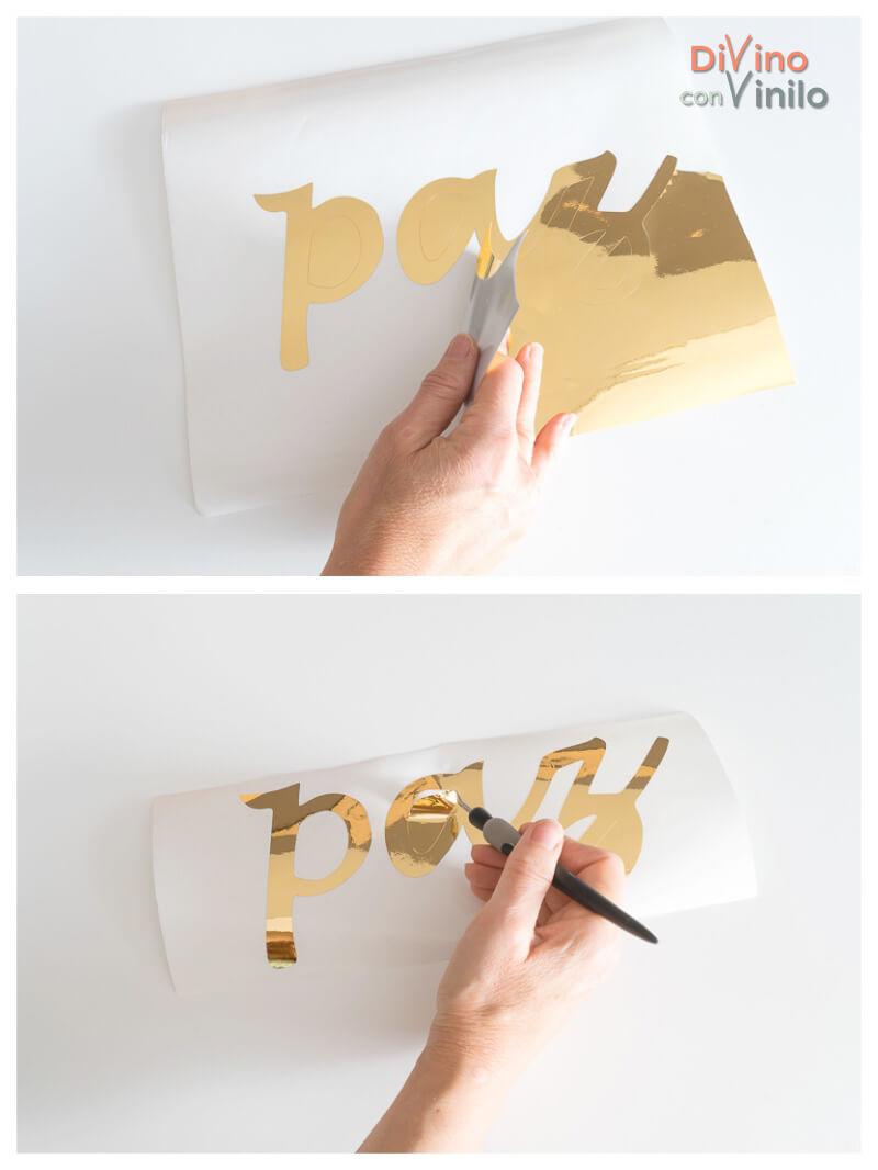descarte de vinilo adhesivo